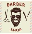 Emblem for barber shop design vector image