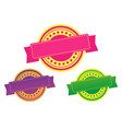 exclusive offer and discount badge of medal vector image vector image