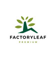 factory leaf logo icon vector image