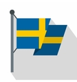 Flag of Sweden icon flat style vector image vector image