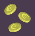 flat shading style icon euro cents vector image