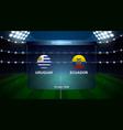 football scoreboard broadcast vector image vector image