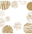 geometric pattern background gold vector image