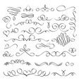 hand drawn flourish elements vintage calligraphic vector image
