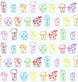Hand Drawn Houses Seamless Pattern Childish vector image vector image