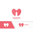 heart and arrow up logo combination love vector image vector image
