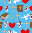 Holy background Biblical seamless pattern Jesus vector image vector image