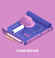 home repair concept vector image