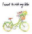 i want to ride my bike vector image vector image