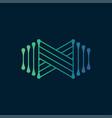 infinity logo vector image vector image