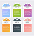 infographic templates for business can be used vector image