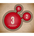 Infographic with red cut circles vector image