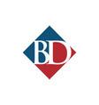 initial bd rhombus logo design vector image vector image