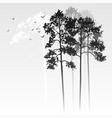 landscape with pine trees vector image vector image