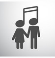 musical couple boy and girl vector image vector image