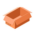 open carton box icon isometric style vector image vector image