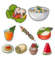 pictures about vegetarianism vegetarian dishes vector image vector image