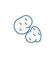 potato line icon concept potato flat vector image vector image