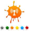 Radio blot vector image vector image