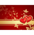 red valentine background vector image vector image