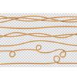Rope decore realistic jute cords marine navy cord