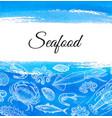 seafood menu design template vector image