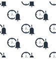 seamless bell with clock pattern education symbol vector image vector image
