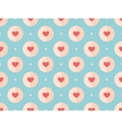 seamless pattern red hearts on a turquoise vector image