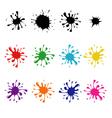 set colored blots vector image