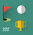 set concept icon golf sport vector image