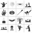 set halloween black silhouettes