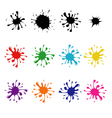 set of colored blots vector image