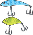 Set of Fish Bait Icons vector image