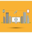 Smart city design editable graphic vector image vector image
