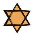 star of david icon cartoon vector image vector image