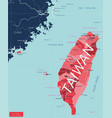 taiwan detailed editable map vector image vector image