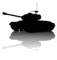 tank silhouette vector image vector image