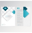 template flyer design vector image vector image