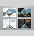 template of the bi-fold brochure with rhombuses vector image vector image