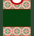 ugly sweater season winter sale poster knitted vector image vector image