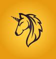 unicorn logo icon design vector image