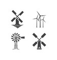 windmill logo design template vector image vector image