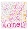 women entrepreneur text background wordcloud vector image vector image