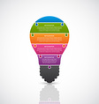 Abstract infographic light bulb banner vector image