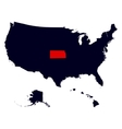 Kansas State in the United States map vector image