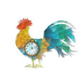 abstract cock and clock vector image vector image