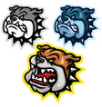 angry bulldog head mascot logo set design vector image vector image