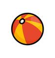 beach ball flat icon summer ball vector image vector image