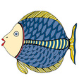 beautiful Patterns stylized Fish vector image vector image