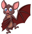cartoon bat waving isolated on white background vector image vector image